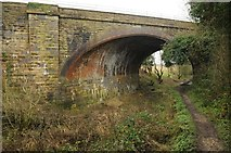 SO9700 : Railway bridge crossing the Thames and Severn Canal by Philip Halling