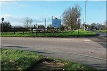 SX9890 : Man on sign, Oil Mill Lane by Derek Harper