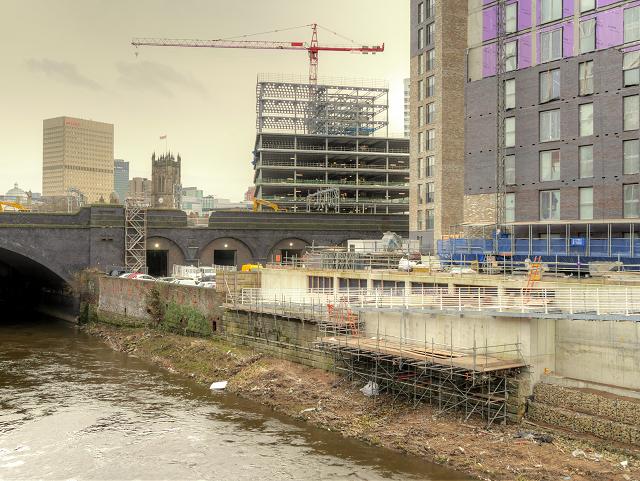 New Development next to the Irwell at Greengate