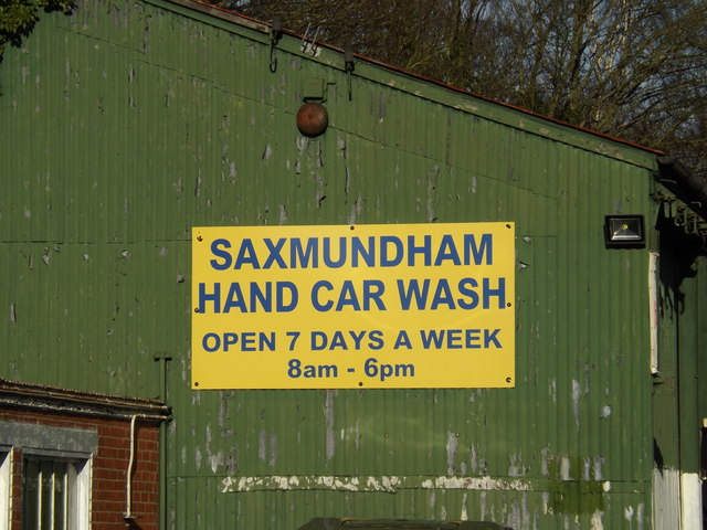 Saxmundham Hand Car Wash sign