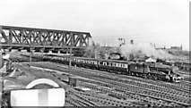 TQ2282 : Old Oak Common East Junction, with Down express passing under West London Line, 1955 by Ben Brooksbank
