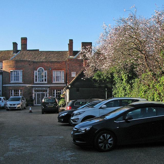 Royston: the rear of The Old Bull Inn