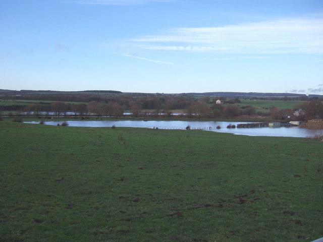 Flooded farmland near Stanner's Farm