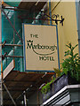 SP3509 : The Marlborough Hotel (2) - sign, 28 Market Square, Witney, Oxon by P L Chadwick