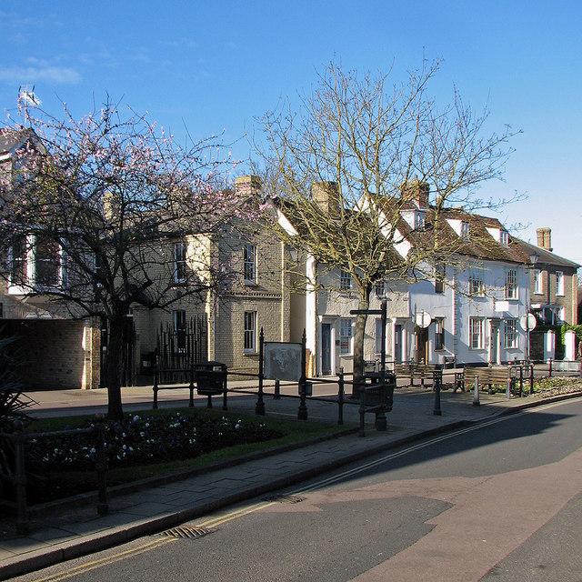 Royston: early blossom in Kneesworth Street