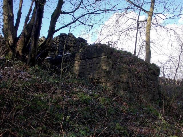 Former footbridge abutment