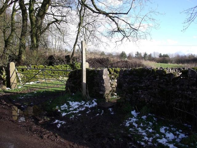 Access at Heathcote to the Tissington Trail