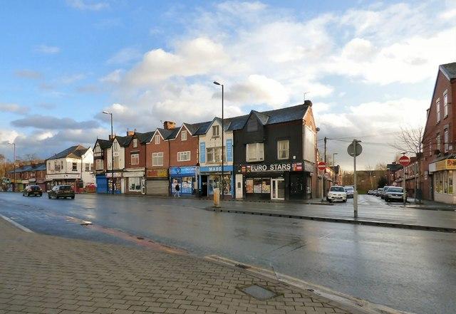 Shops on Hyde Road, Gorton