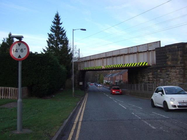 Railway bridge over the A690, Langley Moor