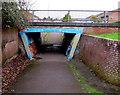 ST7076 : Southeast side of a pedestrian underpass, Pucklechurch by Jaggery