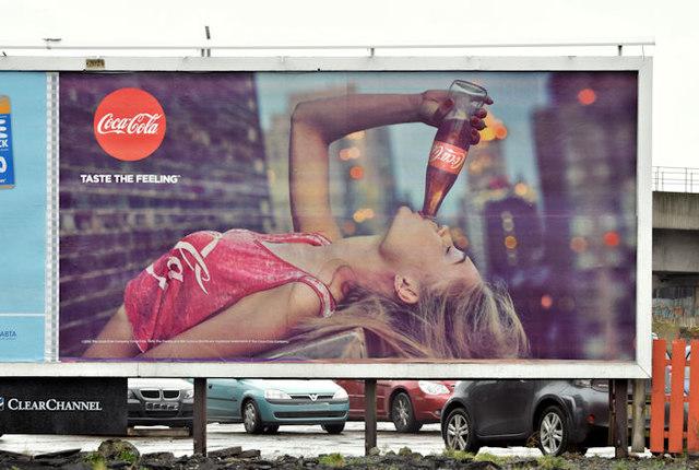 Coca-Cola poster, Belfast - February 2016(1)