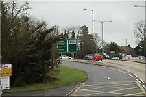 TQ5704 : The A27 eastbound at the A2270 by Ian S