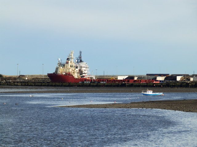 North Sea Supply Vessel on the River Blyth