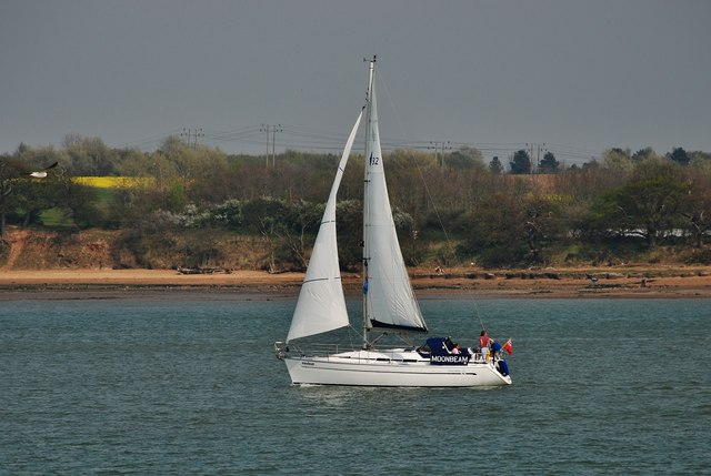 Yacht off Collimer Point