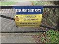 TQ8092 : Essex Army Cadet Force sign by Adrian Cable