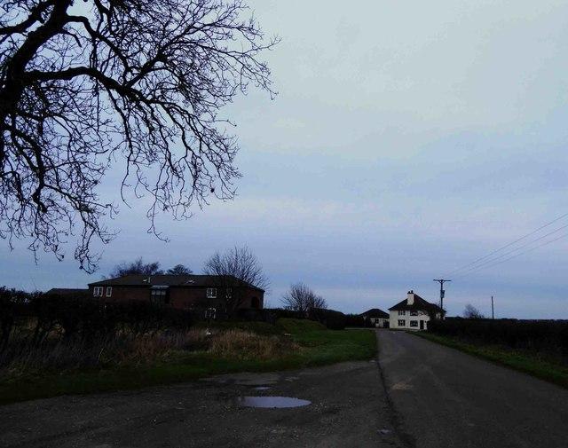 Raithby Barn and A153 trunk road ahead