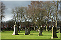 NZ2634 : Five Lane Ends Cemetery by Trevor Littlewood