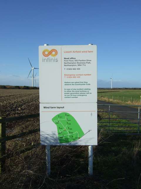 Information board, Lissett Airfield Wind Farm