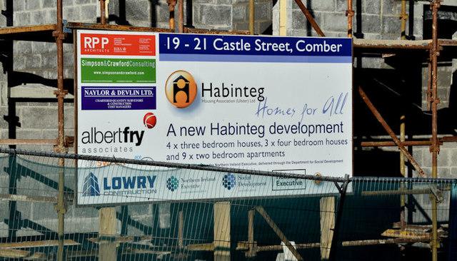 Housing association sign, Comber (February 2016)