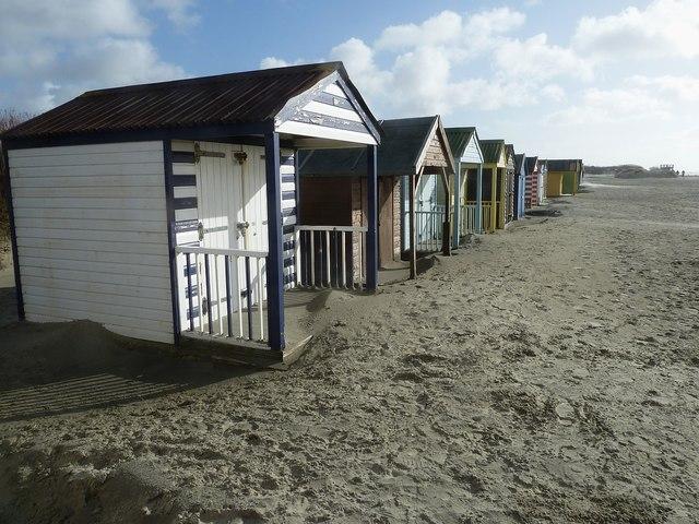 Beach Huts behind West Wittering beach