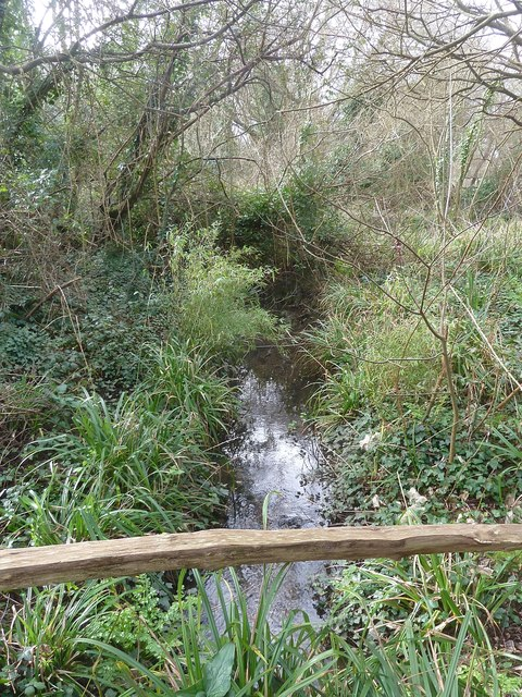 Stream in West Wittering - view downstream
