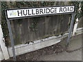 TQ8092 : Hullbridge Road sign by Adrian Cable