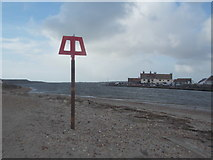 SZ1891 : Mudeford: beacon at the tip of the spit by Chris Downer