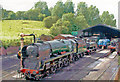 SO7192 : Bridgnorth engine-shed, Severn Valley Railway, with rebuilt Bulleid Light Pacific, 2004 by Ben Brooksbank