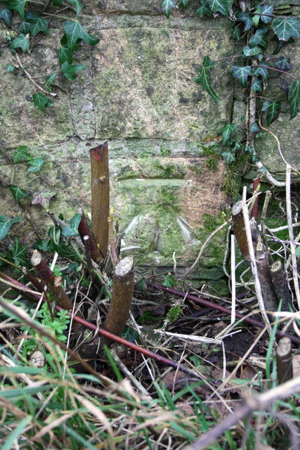 Benchmark of gate pier south of Gagingwell
