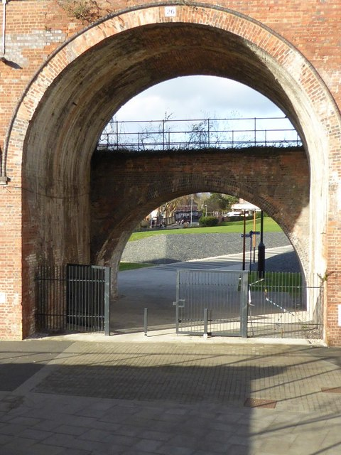 A pair of railway arches