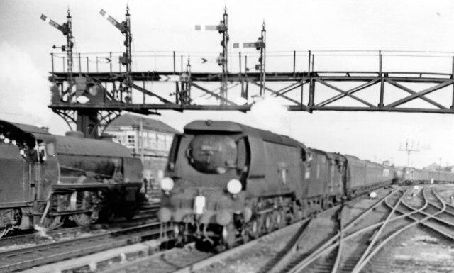 Up Continental Express entering Ashford, 1958