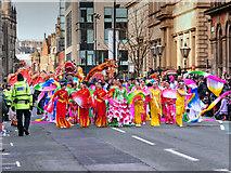 SJ8497 : Chinese Dancers on Princess Street (Dragon Parade) by David Dixon