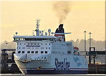 "J3778 : The ""Stena Superfast X"" departing Belfast (February 2016) by Albert Bridge"