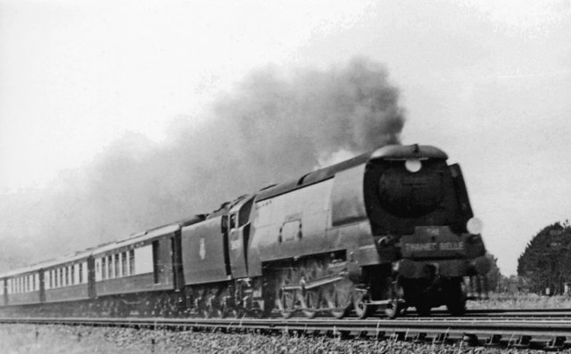 Down 'Thanet Belle' Pullman express approaching Bickley Junction, 1950