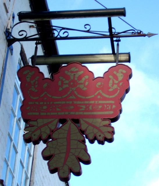 Sign for the Royal Oak public house