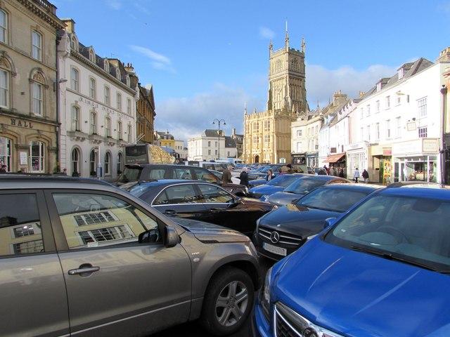 Market Place parking area, Cirencester