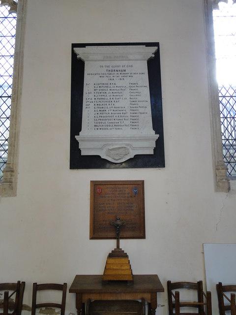 Thornham War Memorials