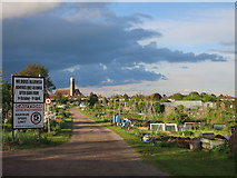 TL4660 : Allotments in Chesterton by Hugh Venables