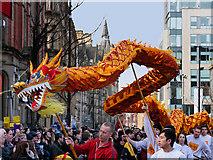 SJ8497 : Manchester Dragon Parade, Princess Street by David Dixon