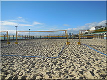 TQ3203 : Yellowave Beach Volleyball court by Paul Gillett
