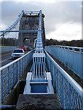 SH5571 : Supporting chain, Menai Bridge by John Lucas