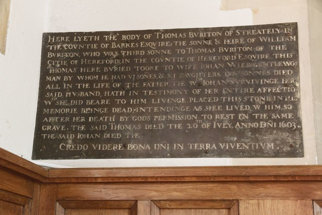 Memorial in the Lady Chapel