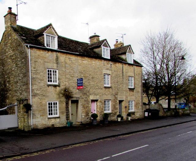 Grade II listed row of three houses, New Church Street, Tetbury