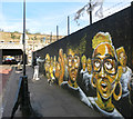 TQ3482 : Painting The Wall by Des Blenkinsopp