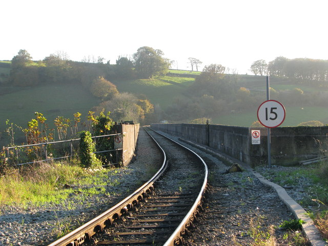 Looking along the viaduct at Calstock