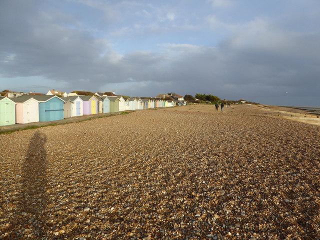 Beach huts at Ferring