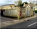 SP0202 : Thomas Street electricity substation and postbox, Cirencester by Jaggery