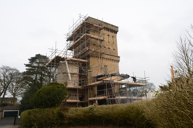Work in progress with Ashby Water Tower