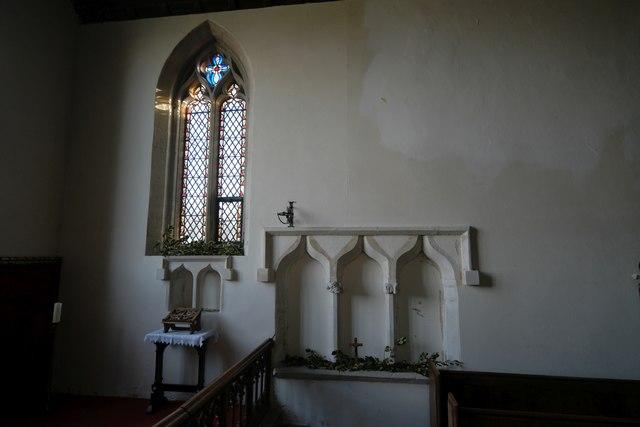 St Mary's Church: Sedilia and piscina