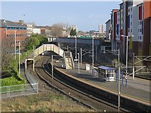 NZ2564 : Manors Railway Station by Andrew Curtis